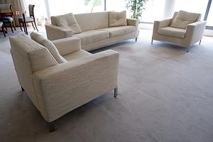 Three Piece Italian BPA International Fabric Upholstered Lounge Suite