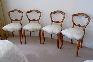 Four Victorian Mahogany Dining Chairs