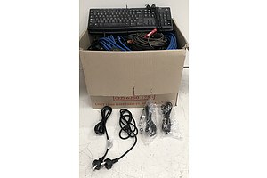 Bulk Lot of Assorted IT Cables & Accessories