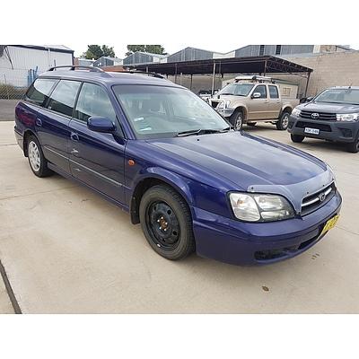 10/1999 Subaru Liberty GX (awd) MY00 4d Wagon Blue 2.0L