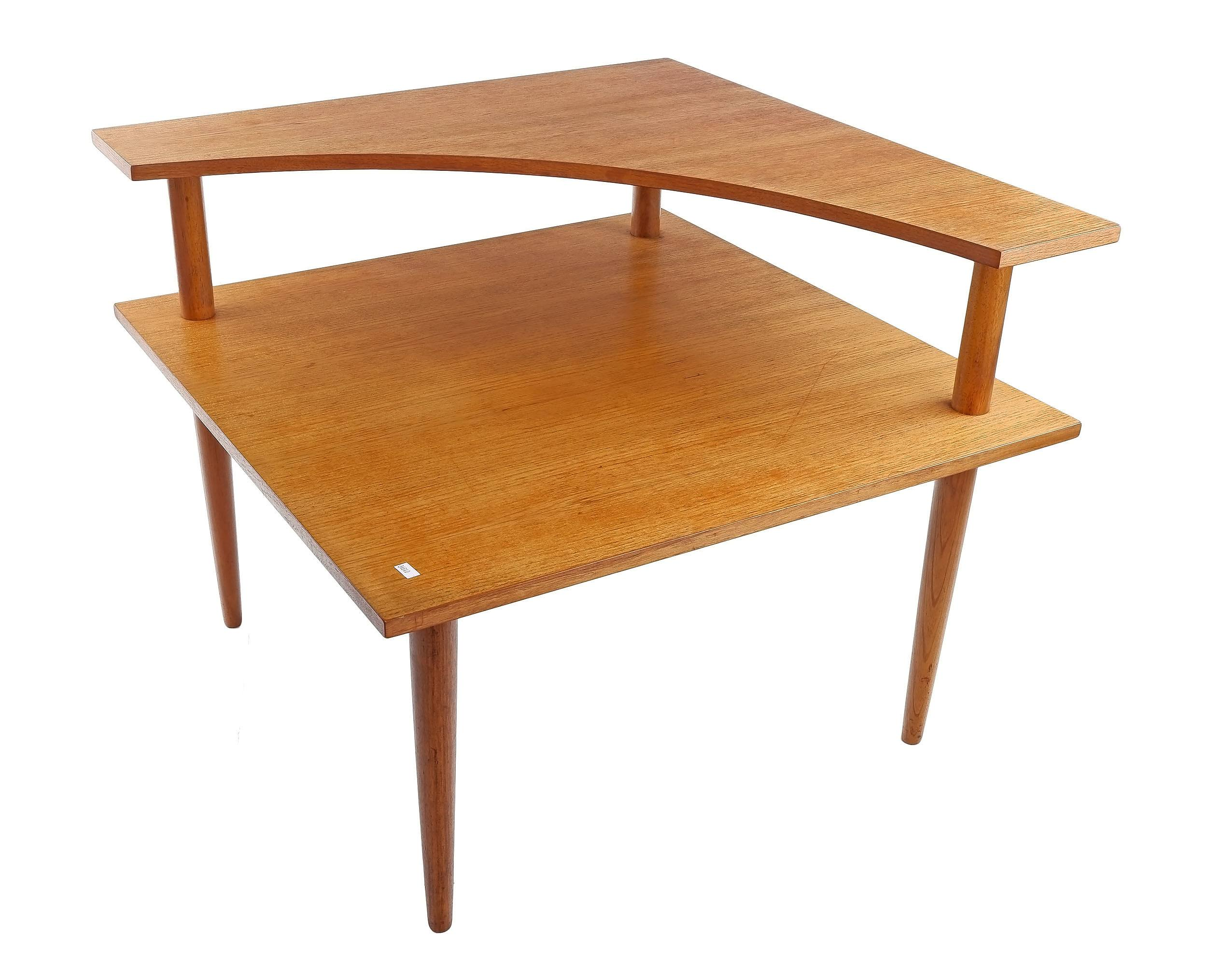 'Teak Two Tier Corner Table, Probably Parker'