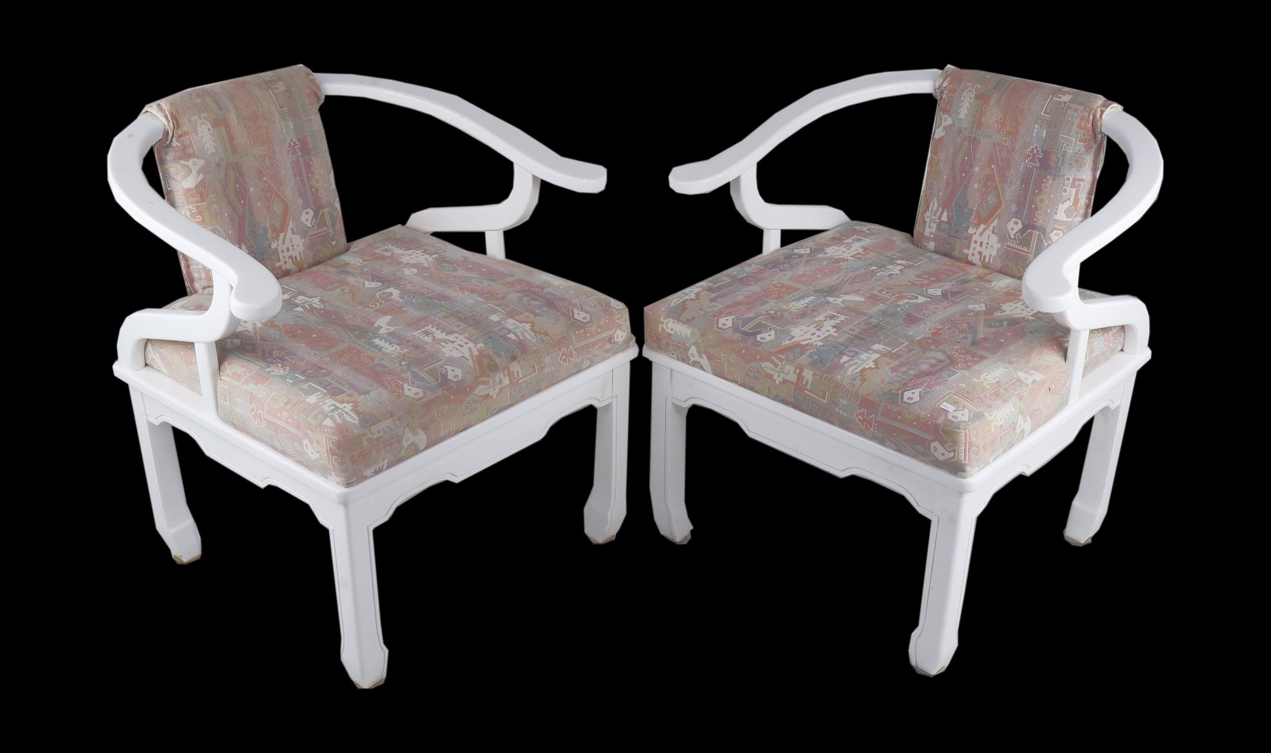 'Pair of Vintage Van Treight Dynasty Party Chairs Circa'