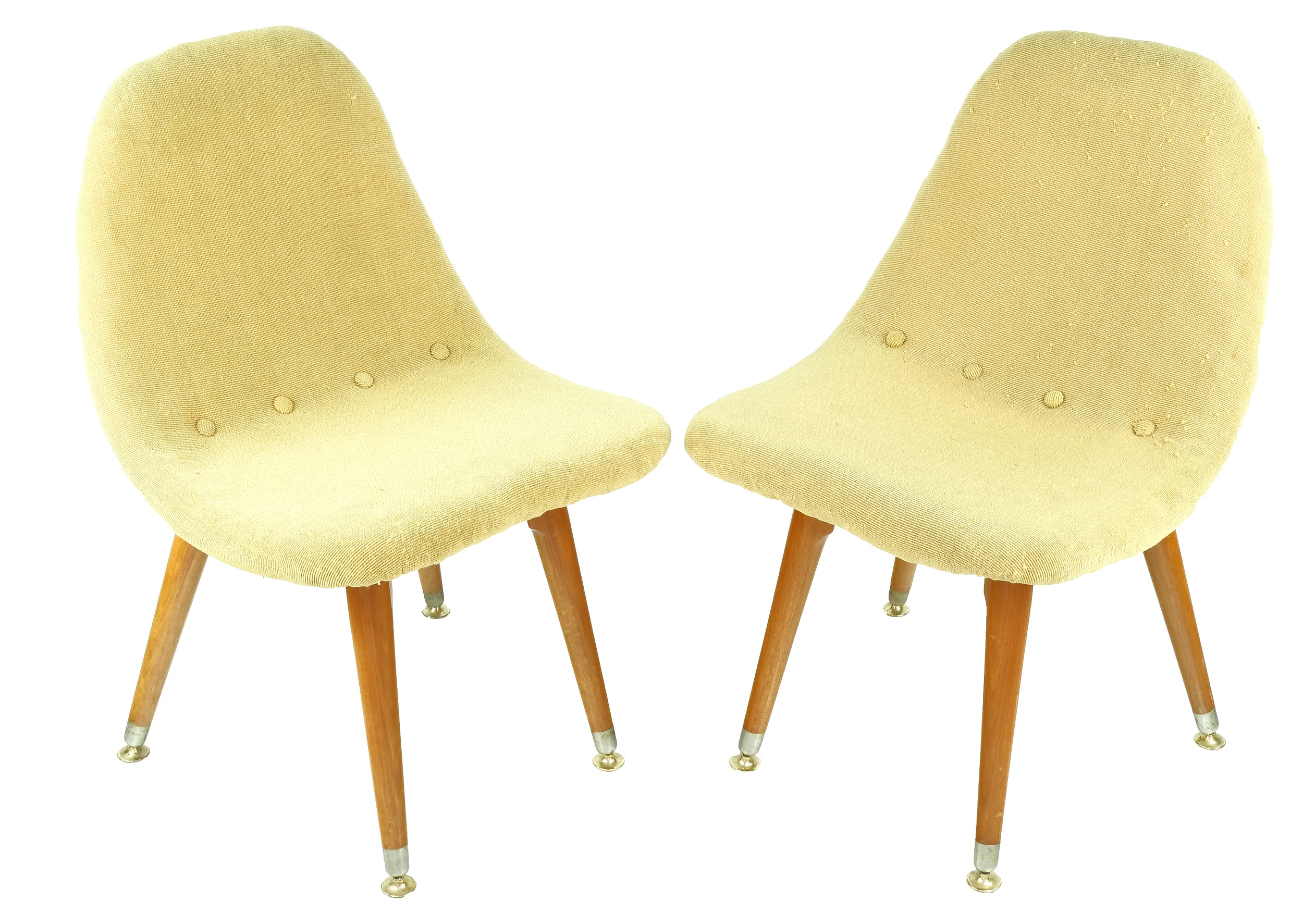 'Pair of Grant Featherston Style Side Chairs'