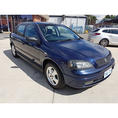 8/2000 Holden Astra CITY Olympic Edition TS 5d Hatchback Blue 1.8L