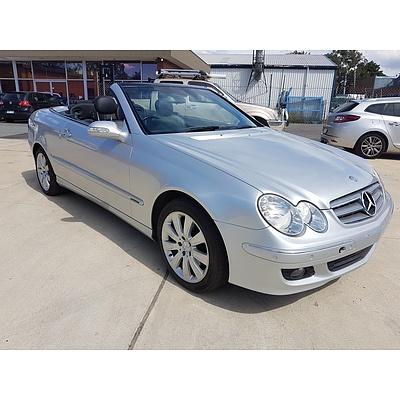 9/2005 Mercedes-Benz Clk350 Elegance C209 MY06 2d Cabriolet Silver 3.5L