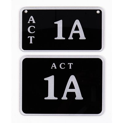 ACT Number Plates 1A