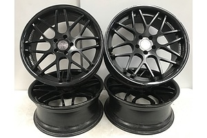 Set Of Black Vertini Magic 20 Inch Concave Rims