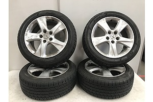 Enkai Honda Rims and Tyres -Set Of Four