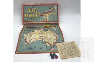 Vintage National Games Australia Air Race Aeroplane Board Game