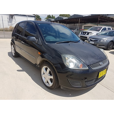 10/2006 Ford Fiesta LX WQ 5d Hatchback Black 1.6L