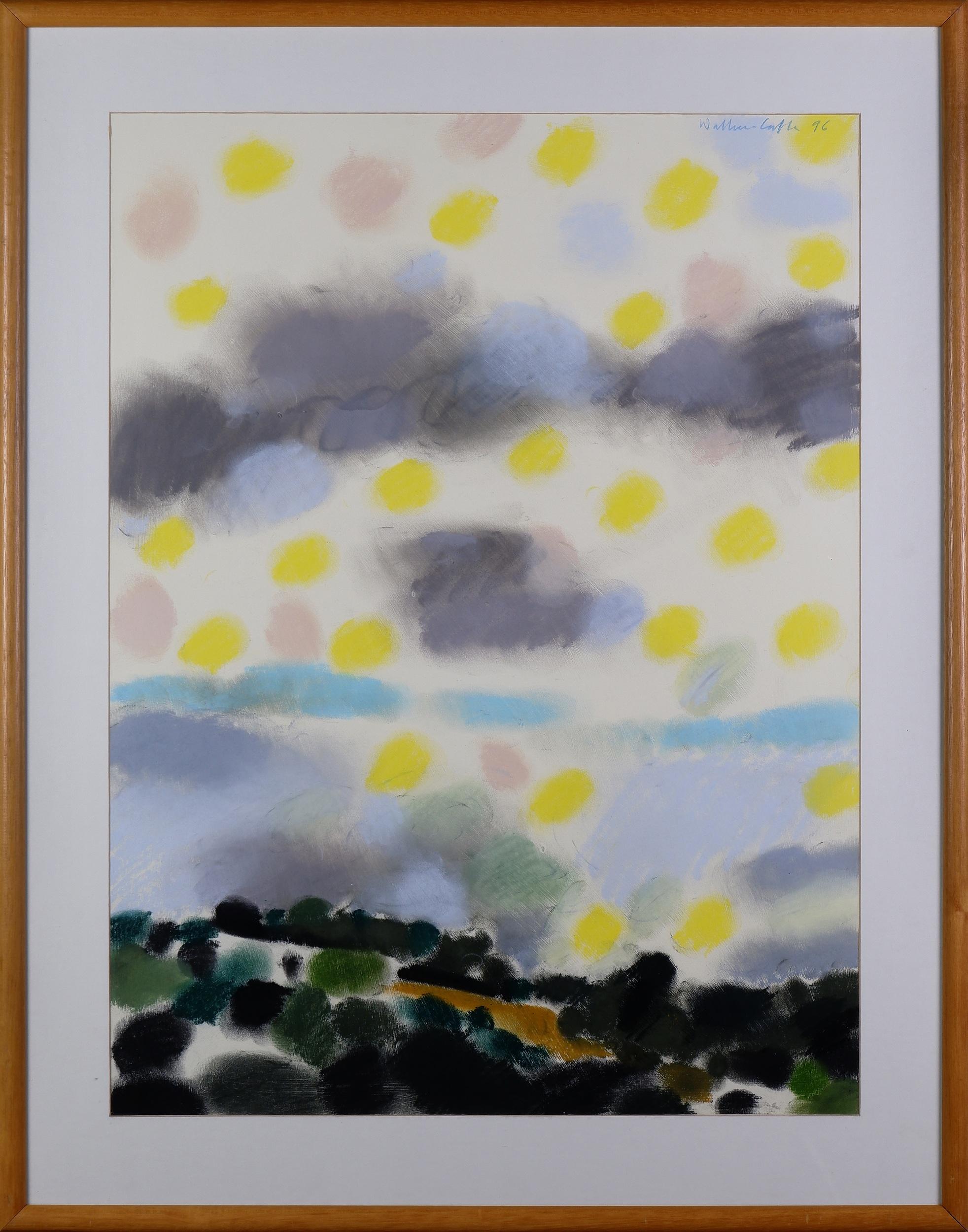 'Robin Wallace-Crabbe (born 1938), Foxhill Landscape 1996, Pastel on Paper'