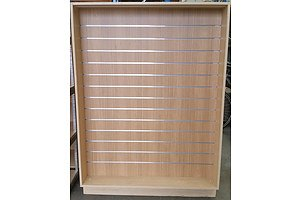 Lot Of 2 Laminate Slatwall Display Units