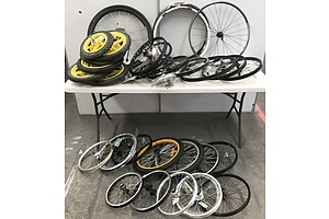 Lot Of Assorted Bike Rims and Tyres -Lot Of Approx 25