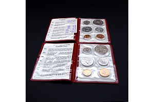 Two RAM 1980 Uncirculated Six Coin Red Packs