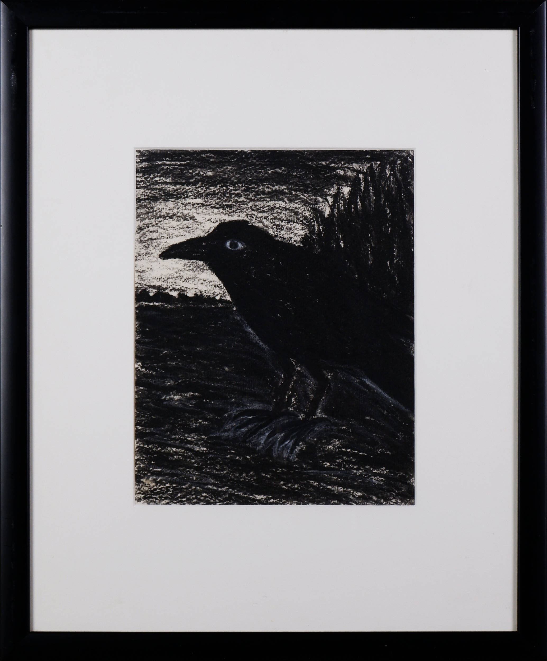 'Peter Booth (born 1940), Raven c1977, Charcoal and Pastel on Paper'