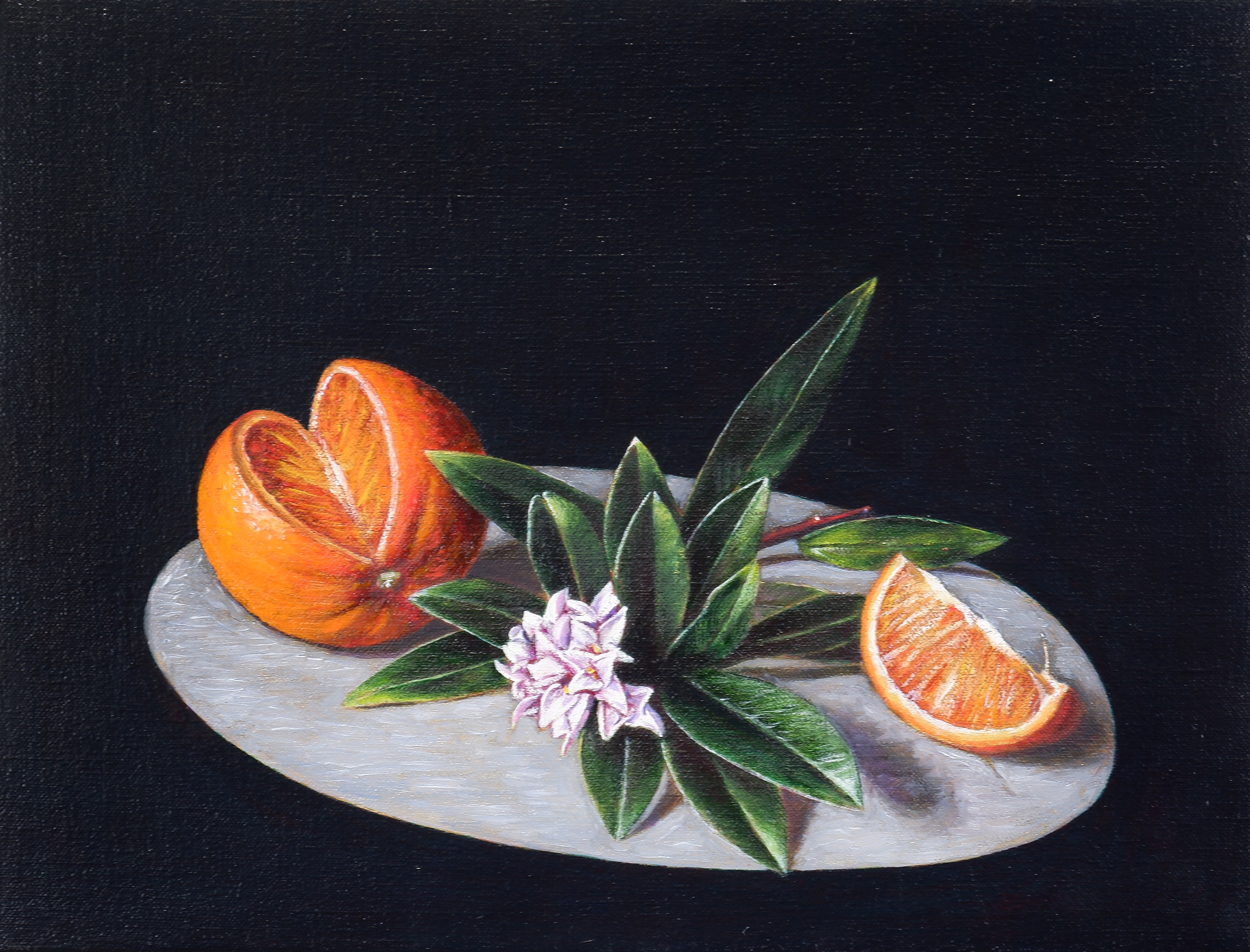 'Christopher Beaumont (born 1961), Daphne and Orange 2004, Oil on Canvas'