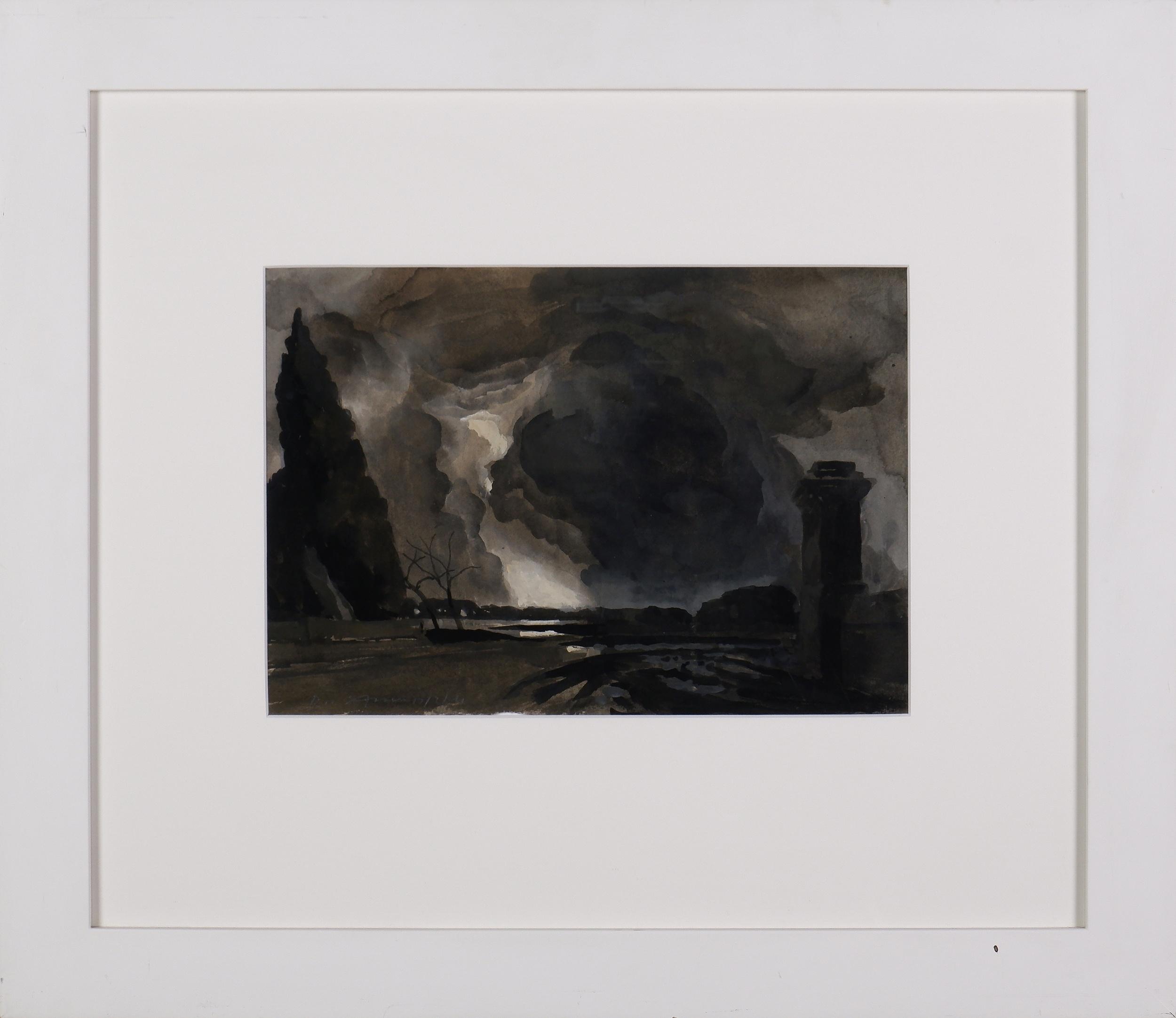'Rick Amor (born 1948), The Cloud 2004, Gouache on Paper'