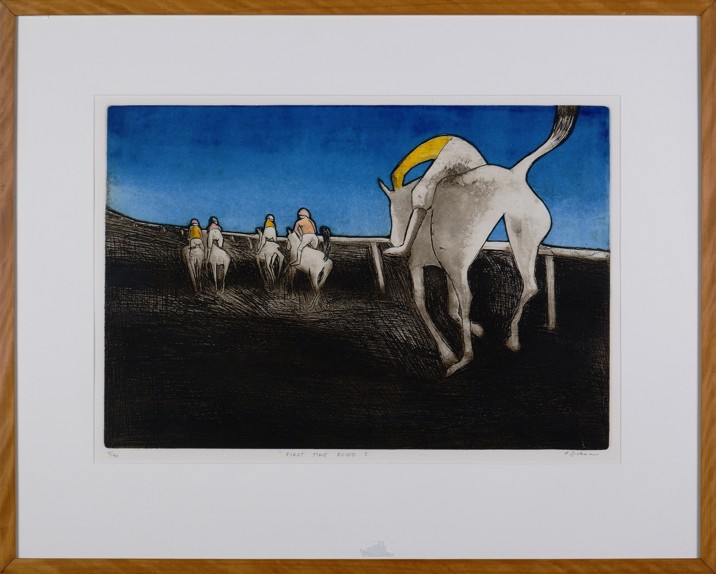 'Robert Dickerson (1924-2015), First Time Round I, Colour Etching'