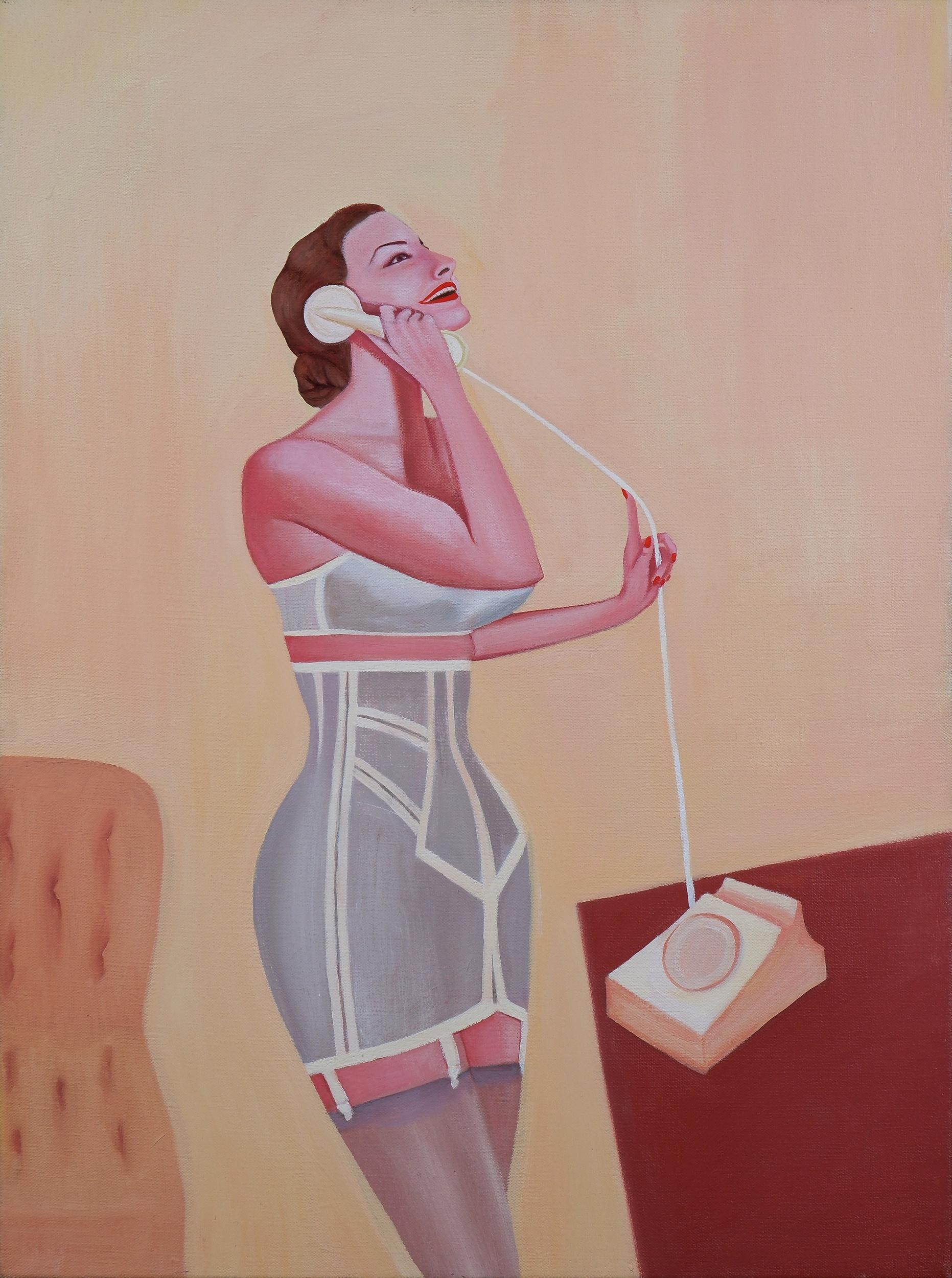'Prudence Flint (born 1962), Hello, Hello 1996, Oil on Canvas'