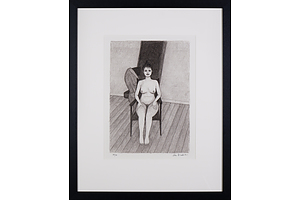 John Brack (1920-1999), Seated Nude 1982, Lithograph