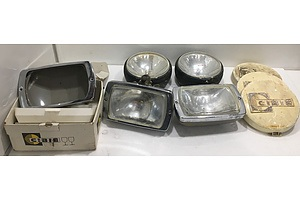 Assorted Driving Lights And Covers - Lot Of Eight