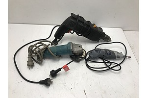 Makita Grinder, Power Drill and Ozito Rotary Tool