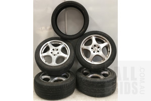 Alloy Mercedes Rims - Staggered Set- Lot Of Four