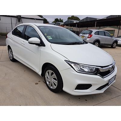 3/2019 Honda City VTi GM MY19 4d Sedan White 1.5L - Auto 2685kms
