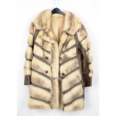 Retro Women's Fur and Leather Coat