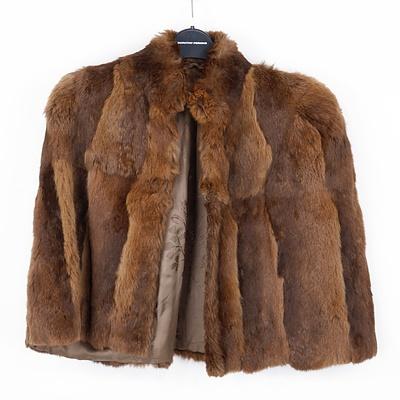 Vintage Women's Kangaroo Fur Capelet