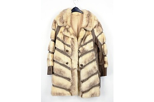 Retro Women's Fur and Leather Coat