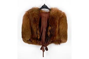 Vintage Fur Capelet