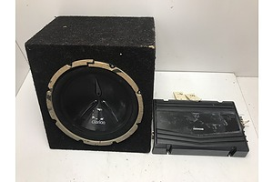 Clarion  10 Inch Subwoofer With Kenwood Amplifier