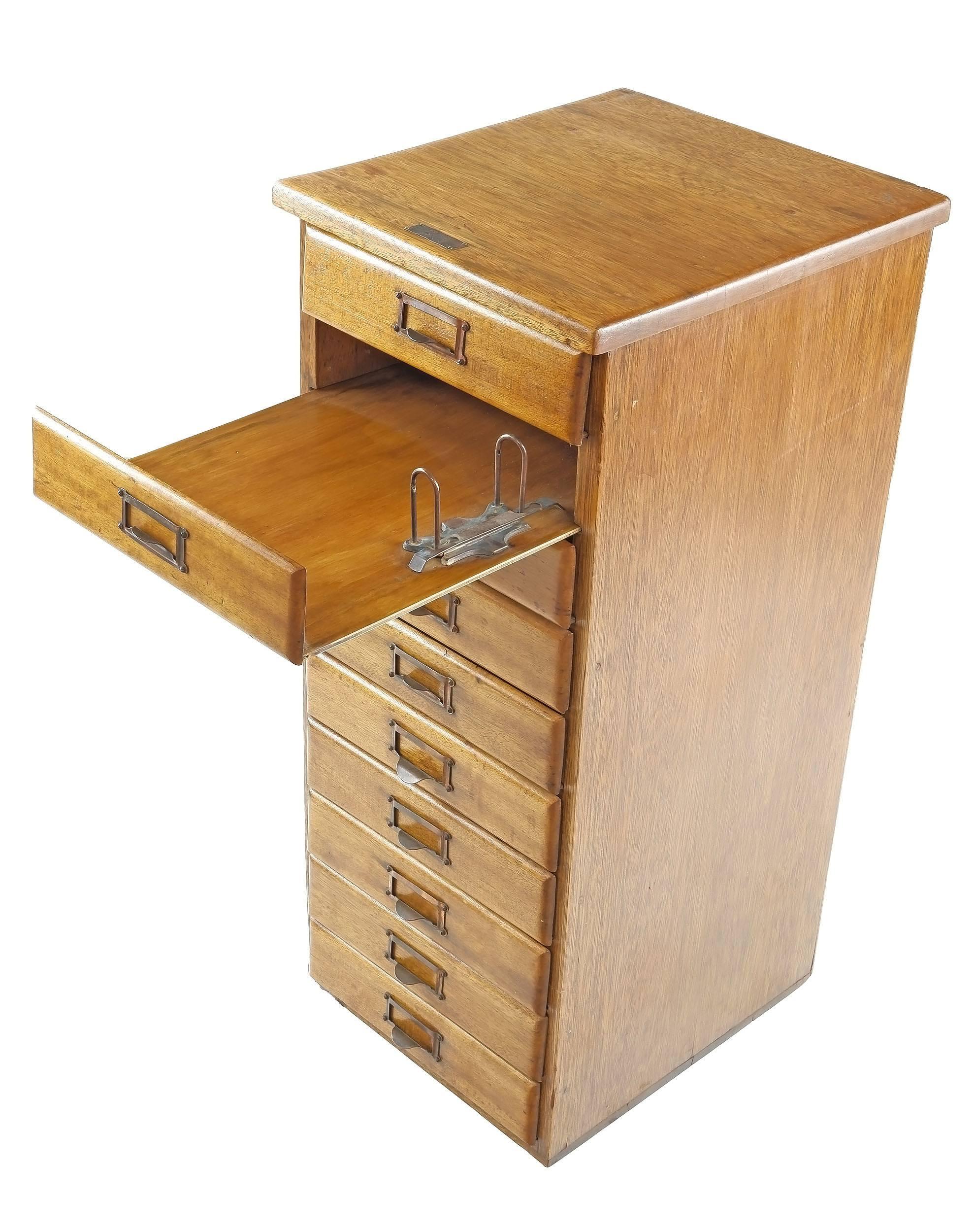 'Scott & Underwood Sydney Maple Document File Cabinet, Circa 1930s'