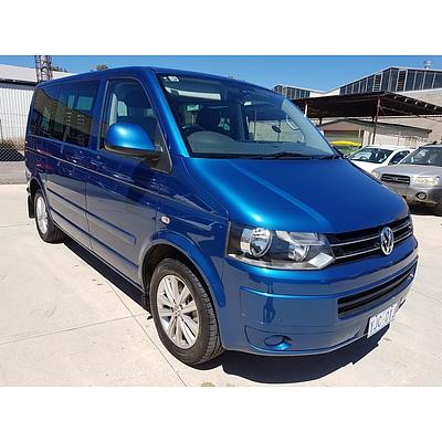 6/2012 Volkswagen Multivan Comfortline Tdi400 T5 MY12 4d Wagon Blue 2.0L