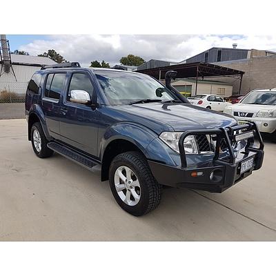 11/2007 Nissan Pathfinder ST-L (4x4) R51 4d Wagon Blue 2.5L