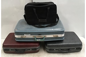 Samsonite Suitcases and Satchel - Lot Of 4