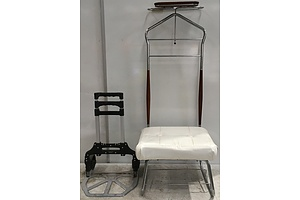 Butler And Folding Trolley - Lot of two