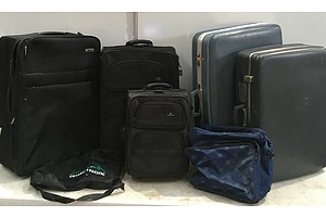 Assorted Suitcases and Travel Bags - Lot of Seven