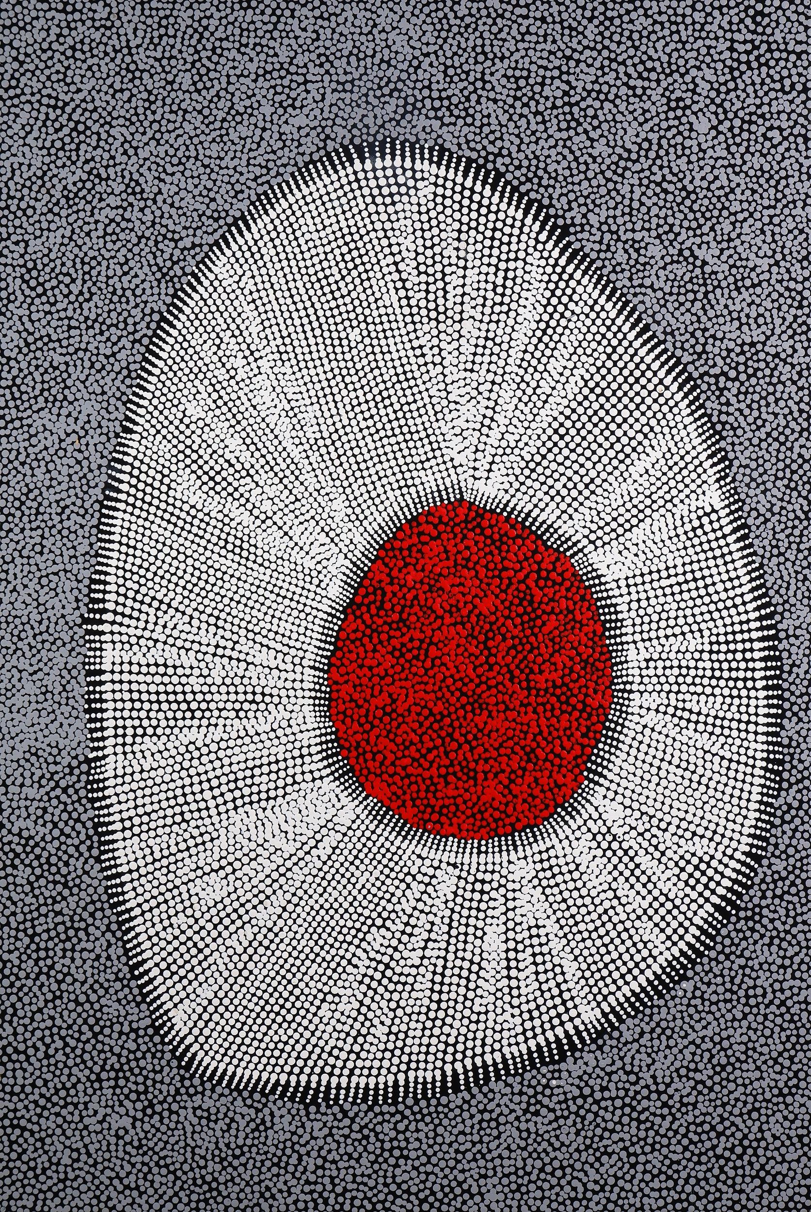 'Felicity Robertson Nampitjinpa (born 1965), Puyurru, Synthetic Polymer Paint on Canvas'