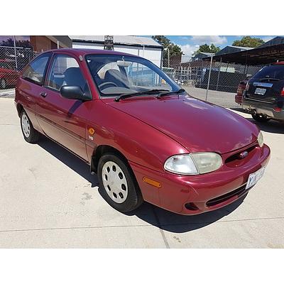 2/1999 Ford Festiva TRIO S WF 3d Hatchback Red 1.5L