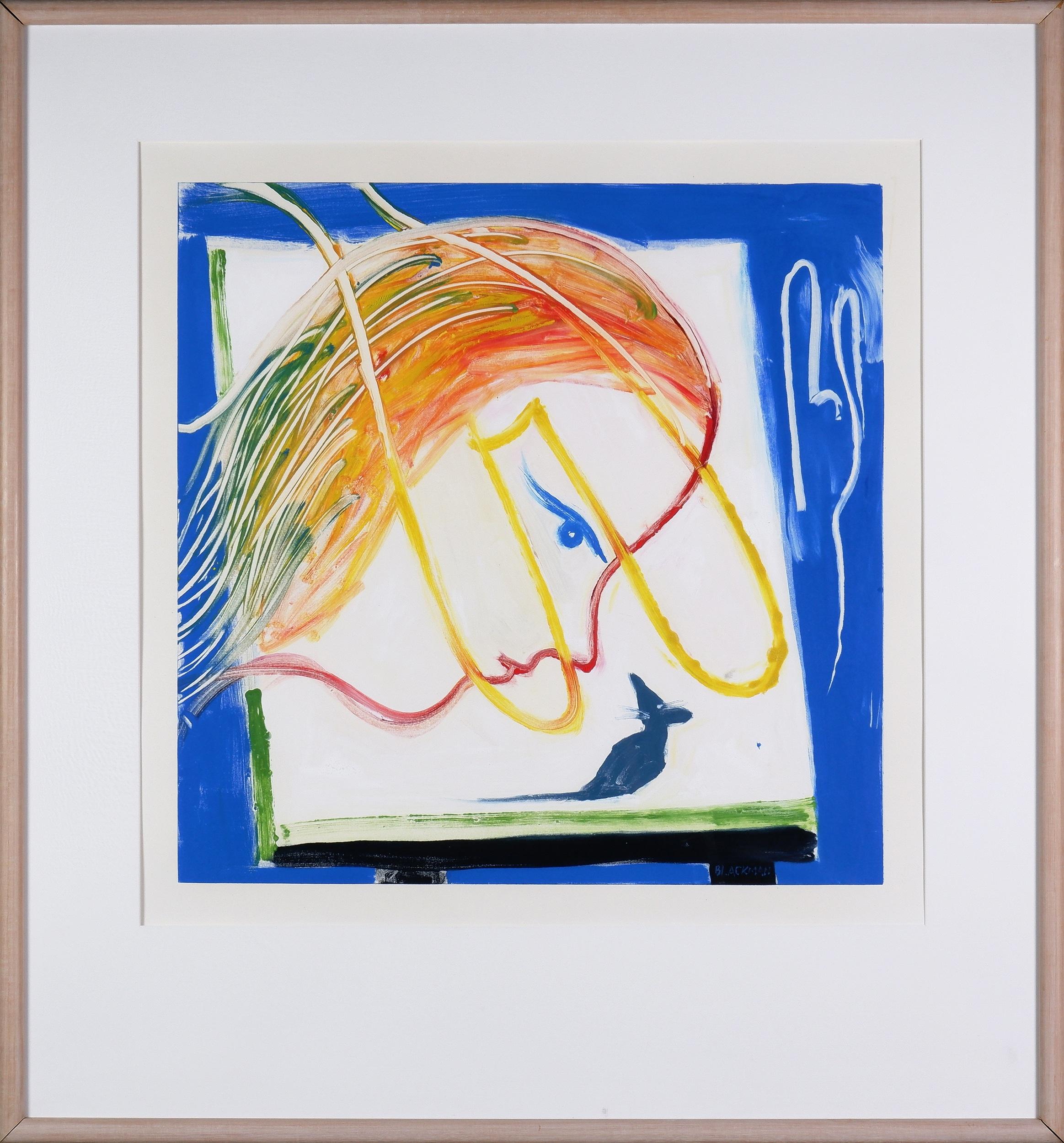 'Charles Blackman (1928-2018), Alices Room, Monotype, 77 x 77 cm'