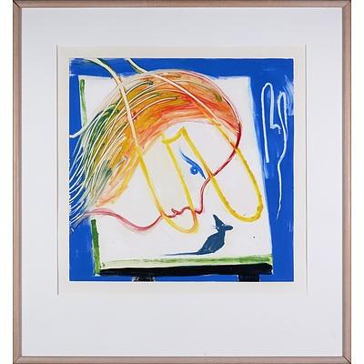 Charles Blackman (1928-2018), Alice's Room, Monotype, 77 x 77 cm