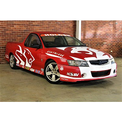 8/2004 Holden Commodore S VZ Utility Red Stormrider Replica Signed By Peter Brock 3.6L V6