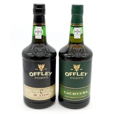 Offley Porto Cachucha Superb White Port and 30 Years Old Tawny Port - Two Bottles