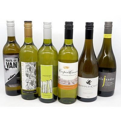 Six Mixed White Wines