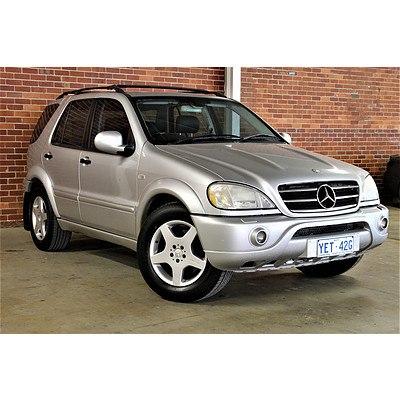 6/2001 Mercedes-Benz ML 55 AMG (4x4) W163 4d Wagon Silver 5.4L