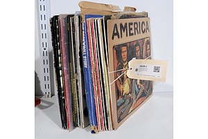 Quantity of Approximately 20 Vinyl LP Records Including Hoodoo Gurus, Billy Joel, The Cure, Culture Club & More