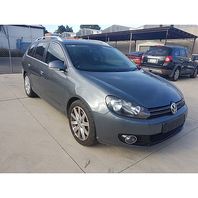 2/2010 Volkswagen Golf 103 TDI Comfortline 1K MY10 4d Wagon Grey 2.0L