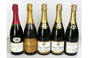Mixed Lot of Five Sparkling Wines (5)